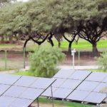 Ponen los primeros paneles de energía solar en un edificio público
